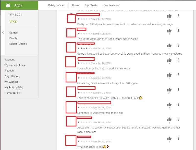 comments of betternet vpn