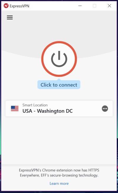 ExpressVPN  app home