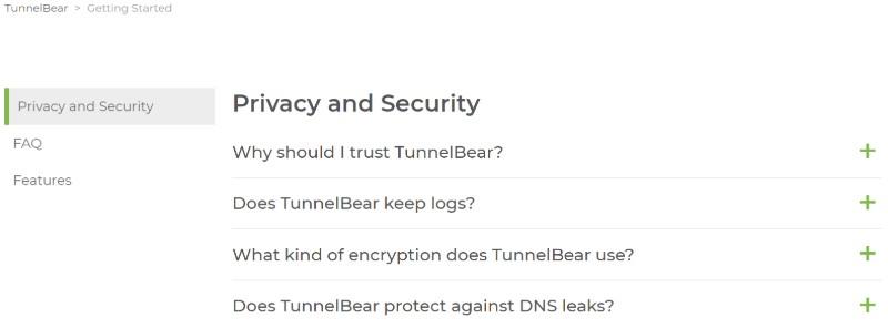 TunnelBear VPN help2