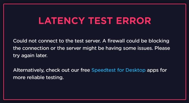 TunnelBear VPN test latency error