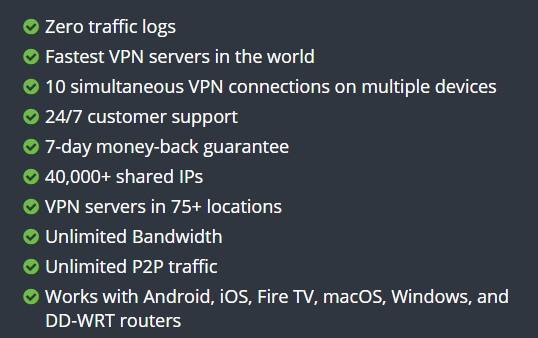 IPVanish Bezpieczeństwo
