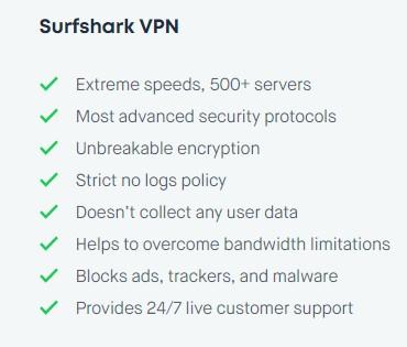 Surfshark Security