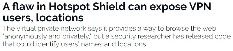 hotspot shield security leak