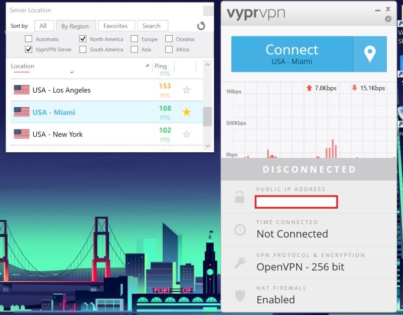 vyprvpn app server sort by