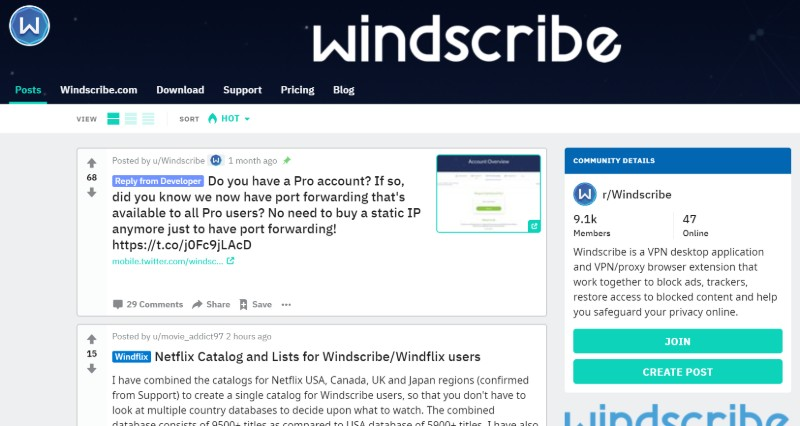 Windscribe reddit