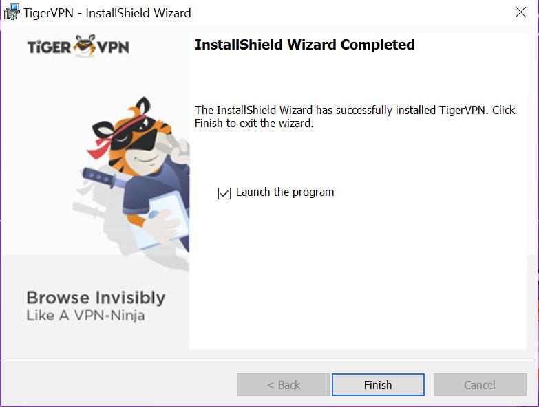 tigervpn finish install