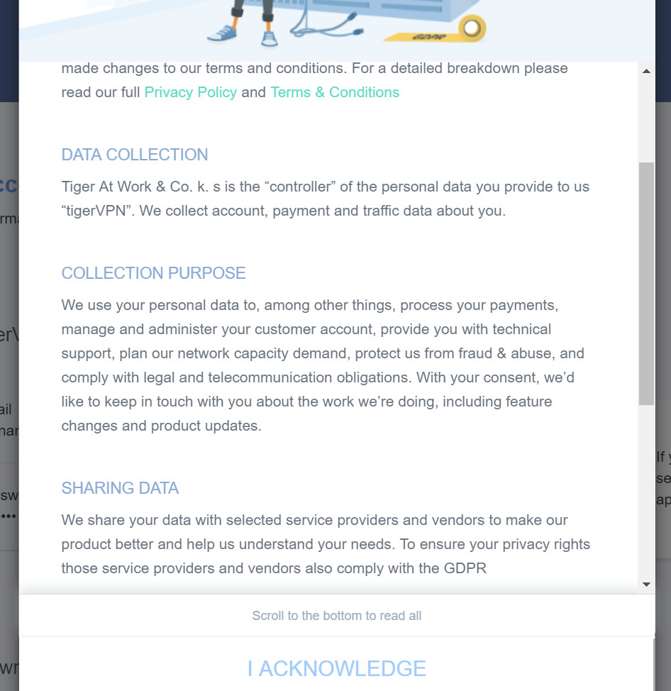 tigervpn terms and conditions