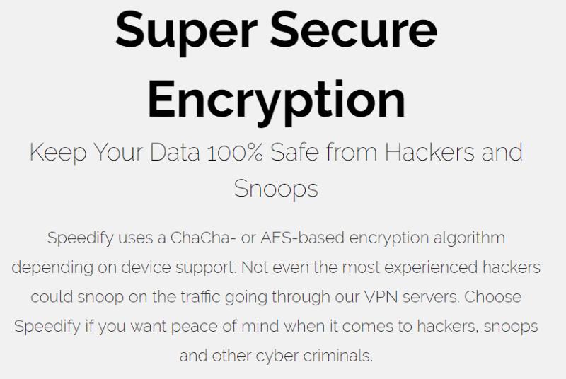 speedify encryption