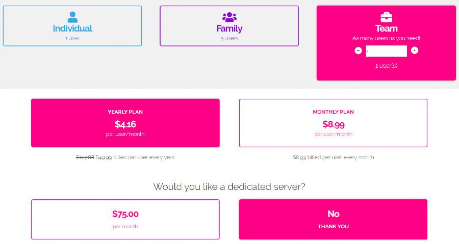speedify price team