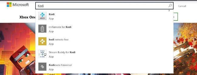 Kodi Microsoft searchbar
