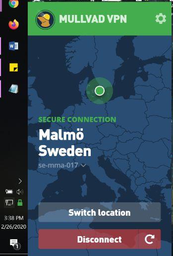 mullvad app home