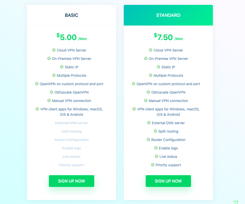 UTunnel VPN pricing